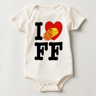 I Love French Fries Baby Bodysuit