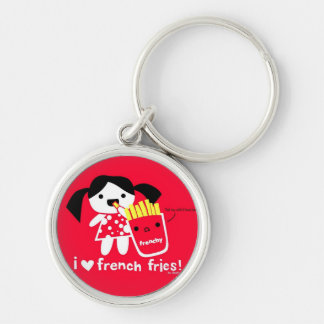 I LOVE FRENCH FRIES KEYCHAIN