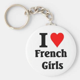 I love French Girls Keychain
