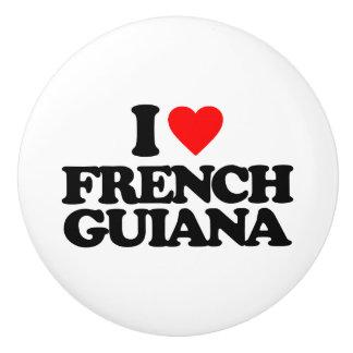 I LOVE FRENCH GUIANA CERAMIC KNOB