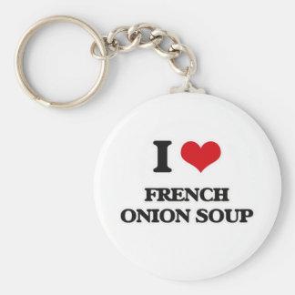 I Love French Onion Soup Keychain