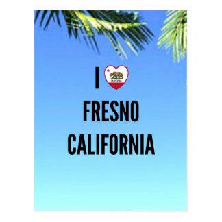 I Love Fresno, California Postcard