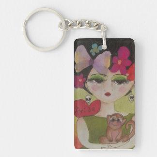 I love Frida Double-Sided Rectangular Acrylic Keychain