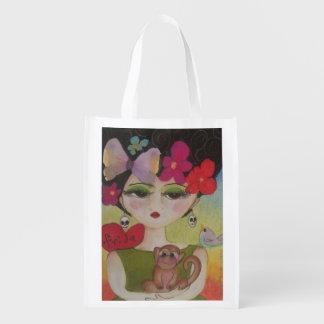 I love Frida Reusable Grocery Bag