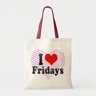 I Love Fridays Tote Bag
