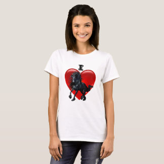 I Love Friesian horses, Big red heart of love T-Shirt