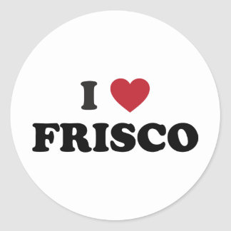 I Love Frisco Texas Round Sticker