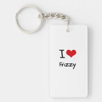 I Love Frizzy Double-Sided Rectangular Acrylic Keychain