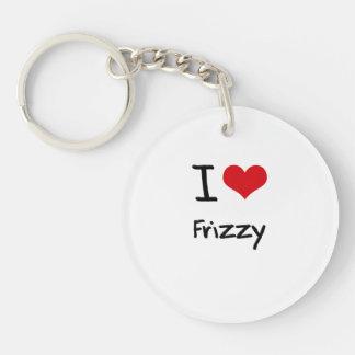 I Love Frizzy Double-Sided Round Acrylic Keychain