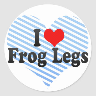 I Love Frog Legs Classic Round Sticker