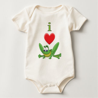 I Love Frogs! Baby Bodysuit