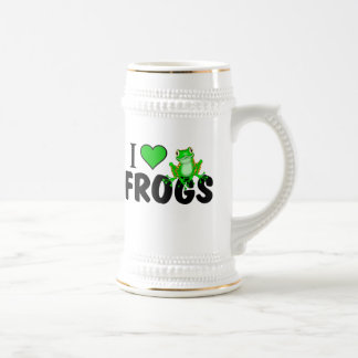I Love Frogs Beer Stein