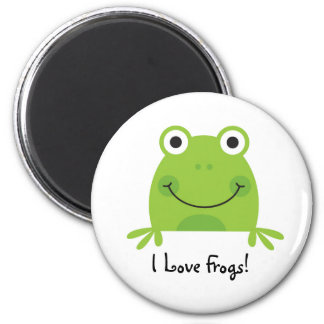 I Love Frogs! Magnet