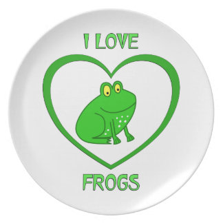 I Love Frogs Plate
