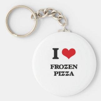 I Love Frozen Pizza Keychain