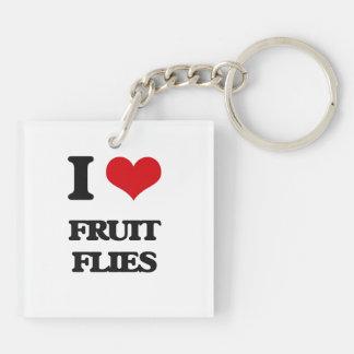 I love Fruit Flies Keychain