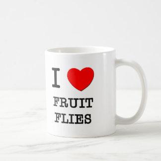 I Love Fruit Flies Coffee Mugs