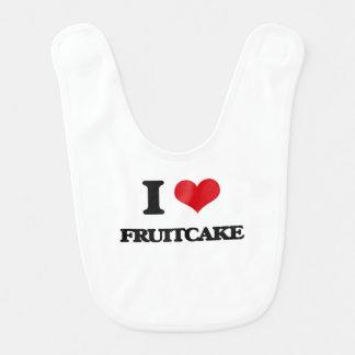 I love Fruitcake Bib
