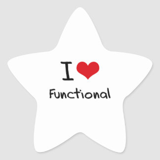 I Love Functional Star Sticker