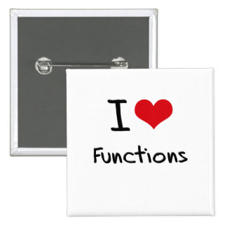 I Love Functions Pins