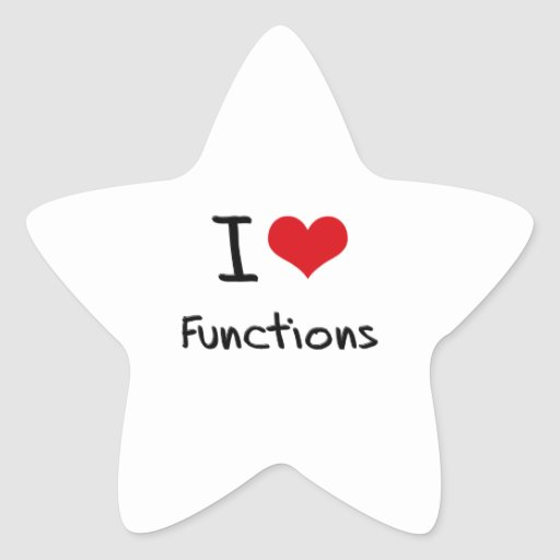 I Love Functions Sticker