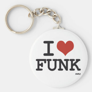I LOVE FUNK BASIC ROUND BUTTON KEYCHAIN