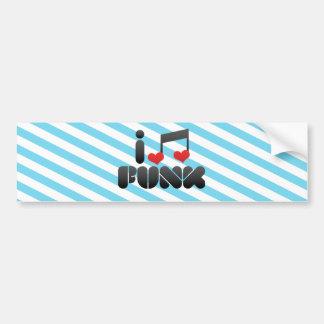 I Love Funk Bumper Sticker