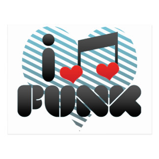I Love Funk Postcard