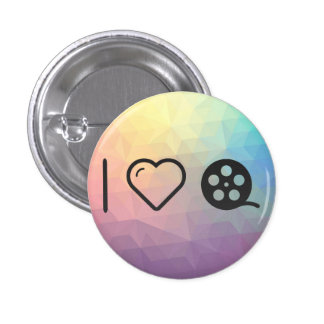 I Love Funny Movies 1 Inch Round Button