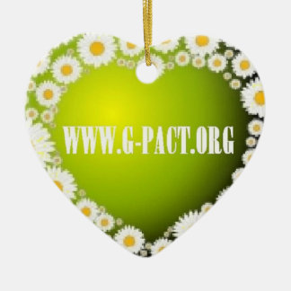 I Love G-PACT Ceramic Ornament