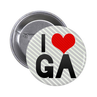 I Love GA Pinback Button