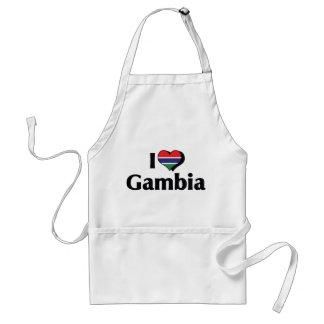 I Love Gambia Flag Standard Apron