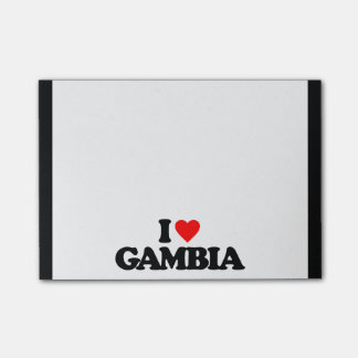 I LOVE GAMBIA POST-IT NOTES