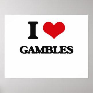 I love Gambles Print