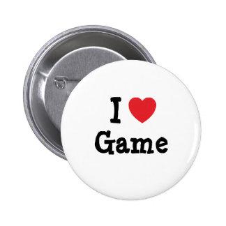 I love Game heart T-Shirt Buttons