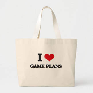 I love Game Plans Canvas Bags