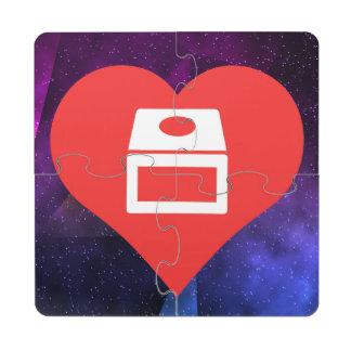 I Love gamecube Puzzle Coaster