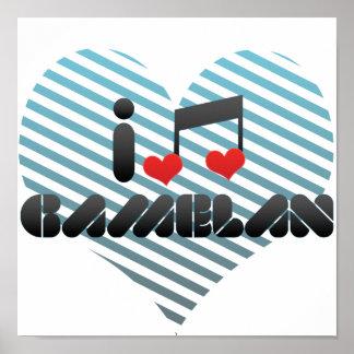 I Love Gamelan Poster