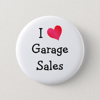 I Love Garage Sales 2 Inch Round Button