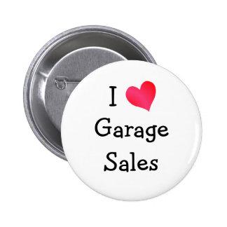 I Love Garage Sales 2 Inch Round Button