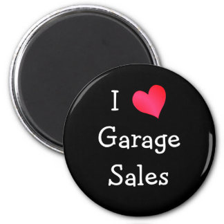 I Love Garage Sales 2 Inch Round Magnet