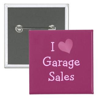 I Love Garage Sales Pinback Button