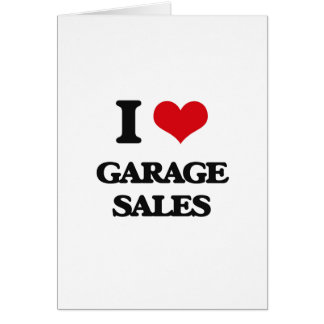 I love Garage Sales Greeting Card