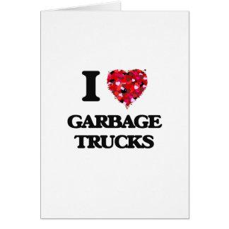 I love Garbage Trucks Card