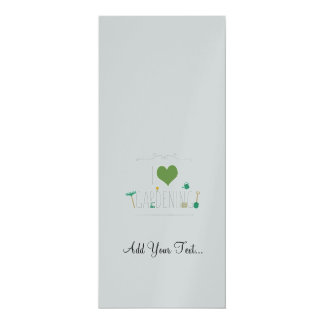 "I love gardening 4"" x 9.25"" invitation card"