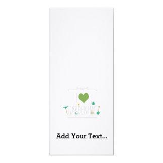 "I love gardening 4"" x 9.25"" invitation card"
