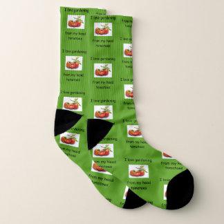 I love gardening from my head tomatoes socks