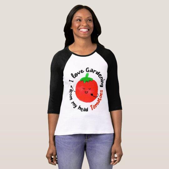 I Love Gardening Tomatoes - Women Raglan Tshirt