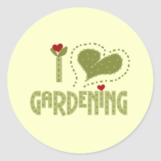 I Love Gardening Tshirts and Gifts Classic Round Sticker