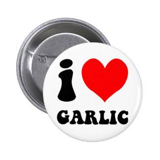 i love garlic 2 inch round button